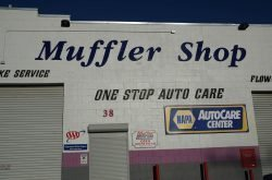 The Muffler Shop building